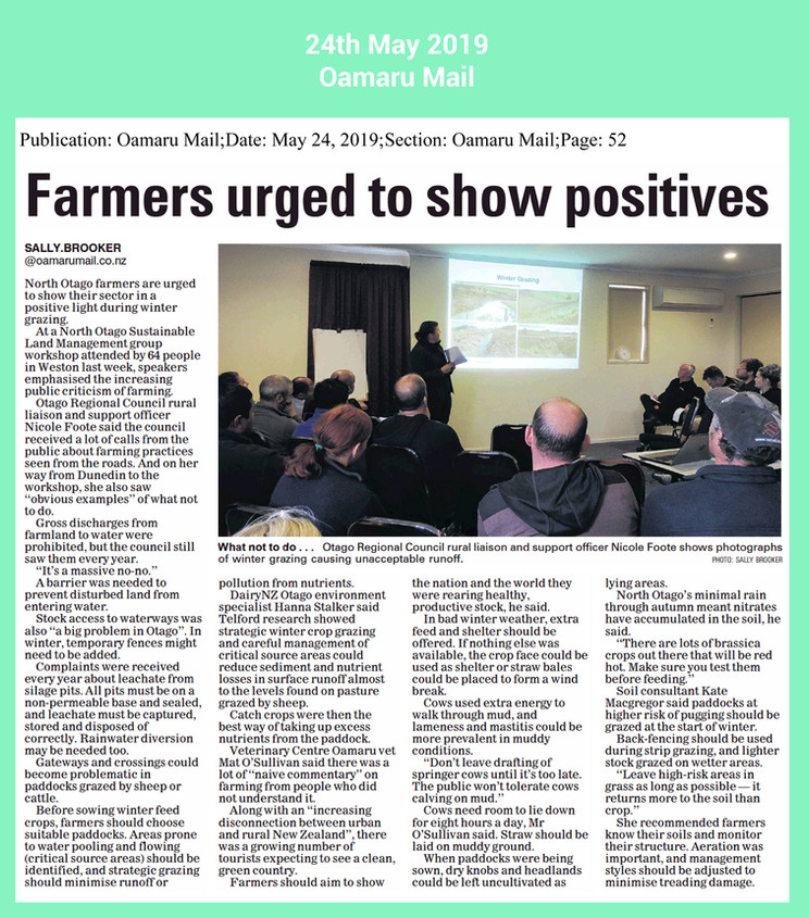 winter grazing farmers urged to see posi