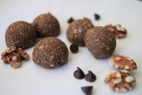 Vegan Walnut Brownie Protein Bites
