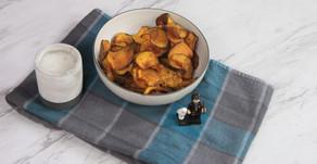 Sweet Potato Chips & Cashew Sauce