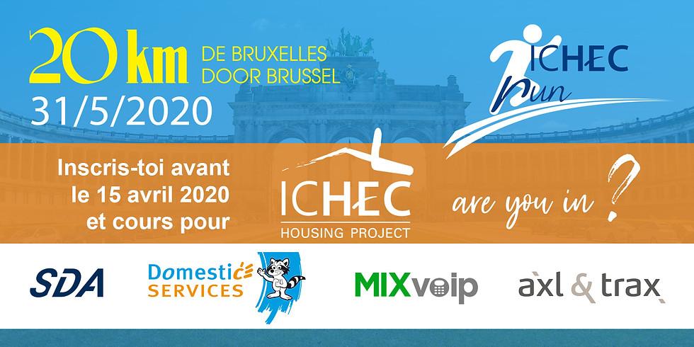 ICHEC Run 2020 - 20km de Bruxelles