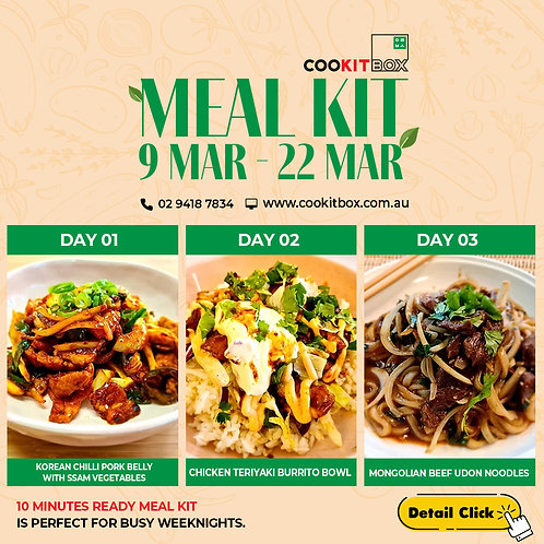 10 MINUTES READY MEAL KIT  (available 9 MAR~22 MAR)