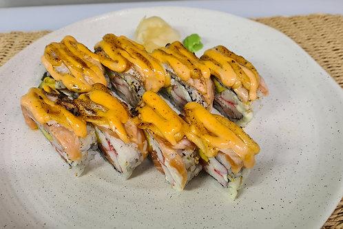 Aburi Salmon Inside Out Roll (8pcs)