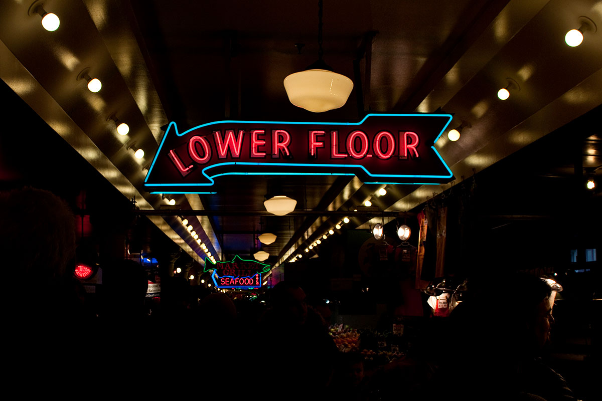 2012----Pike-Place-Market---Neon-Signs