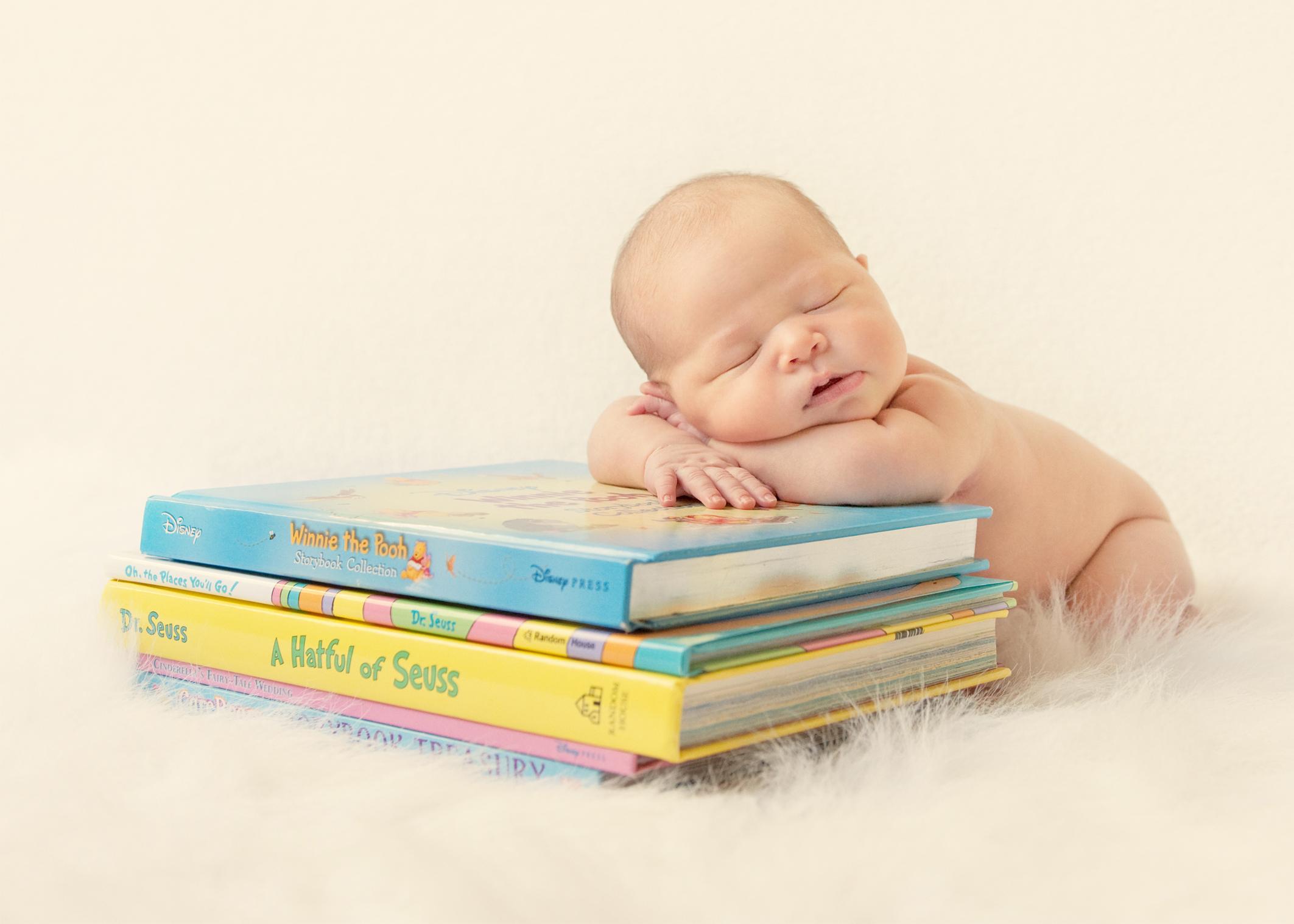 Baby - Fell Asleep Reading 8x10