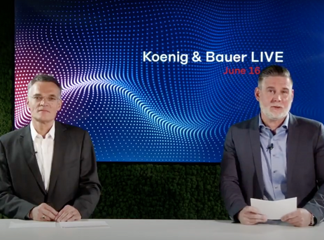 Koenig & Bauer LIVE - stable post-corona, digitalisation, optimistic drupa 2021