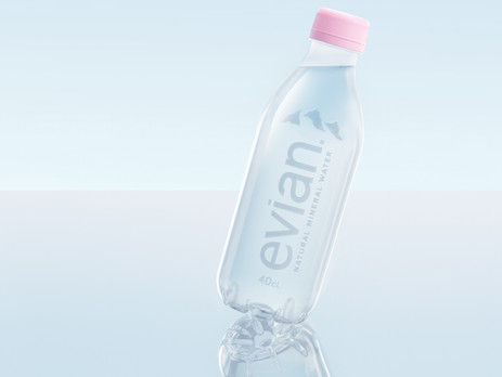 Evian goes label-free