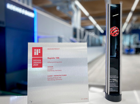 New Koenig & Bauer Rapida generation wins design awards