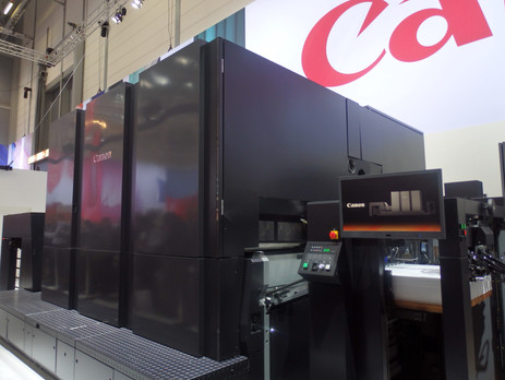 Canon Voyager prototype on drupa demo