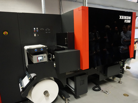 Xeikon introduces first UV inkjet label press