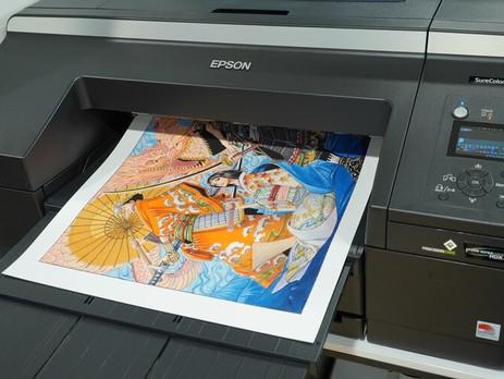 Epson prints Japanese manga art