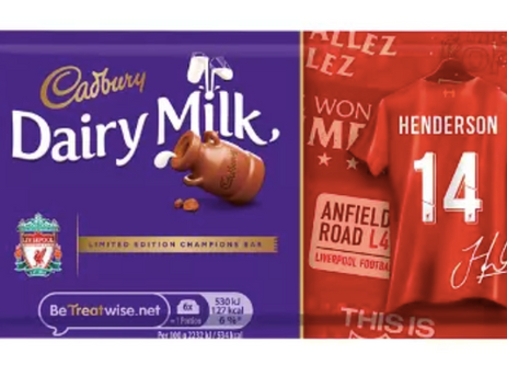 Cadbury thanks football fans with limited edition packaging using HP