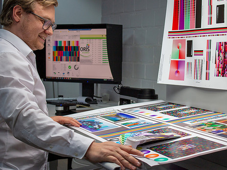 ORIS X Gamut showcases excellent ICC-multicolour profiles and spot colour overprinting