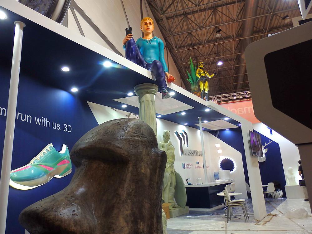 Larger than life Massivit 3D stand at drupa