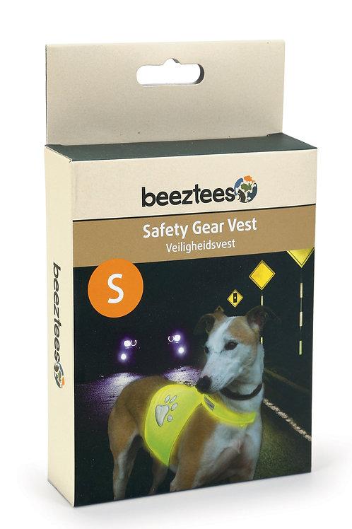 Reflexväst gul för hund. Stl:  S-L