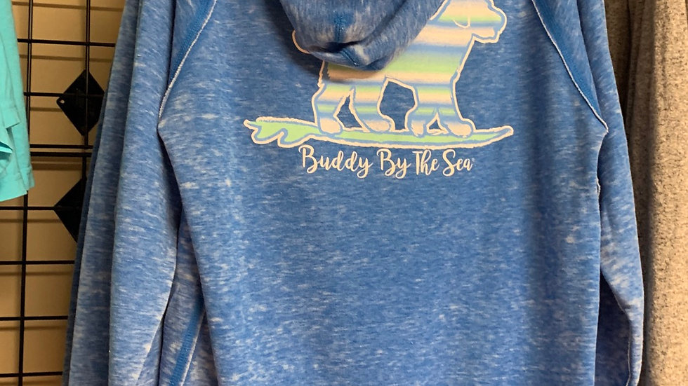 Buddy by the Sea Blue comfort fit hoody