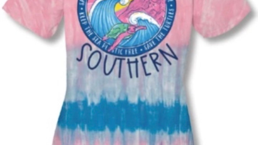 SIMPLY SOUTHERN TIE DYE SURF TURTLE