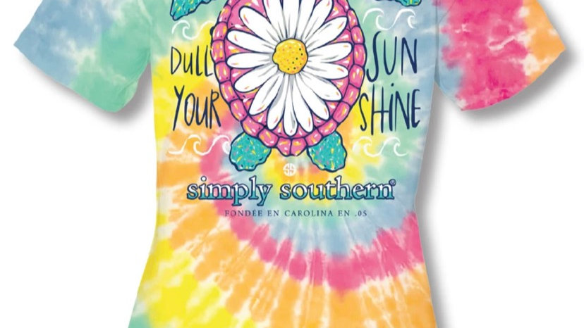 SIMPLY SOUTHERN TIE DYE DAISY