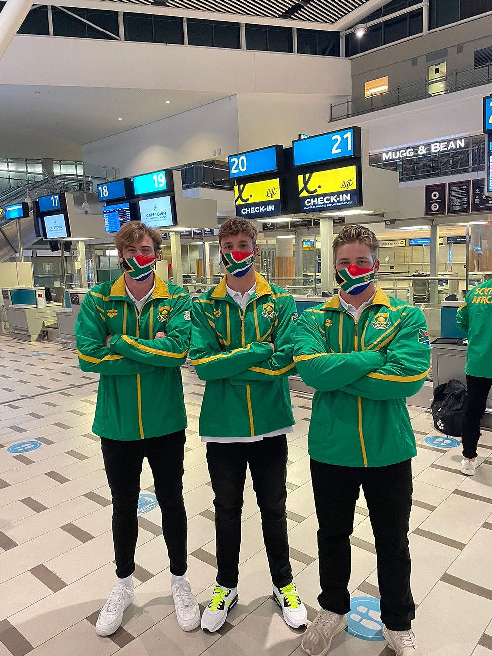 Reddam House Constantia students Sebastian Riley Nielsen and Jordon Harrod and Reddam House Helderfontein alumni, Bryan Rees-Gibbs departed on 25 August for the FINA World Champs as part of the South African U20 water polo team.