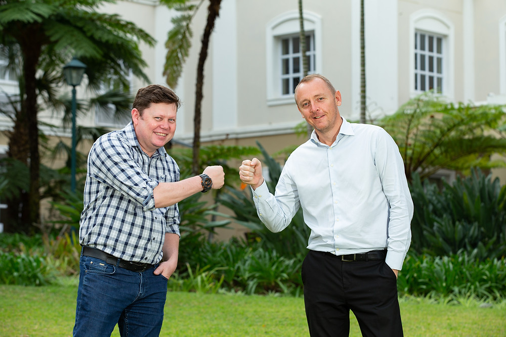 Tobie van Schalkwyk (left) will take up the Emnotweni reins on 1 October 2020 from current Director of Operations and Complex General Manager, Adam MacIntyre, who has been chief at this Tsogo Sun Gaming property since 2017.
