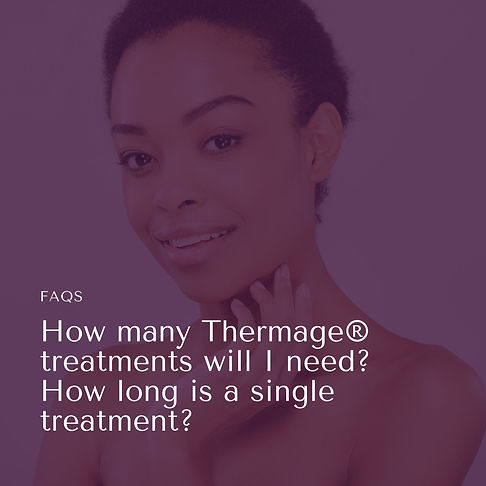How many Thermage tx will I need and how