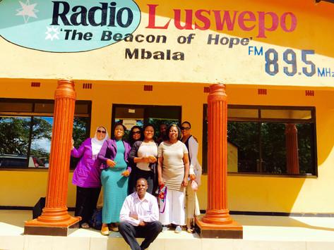 Radio Interview in Mbala Zambia photo credit Christine Saidi