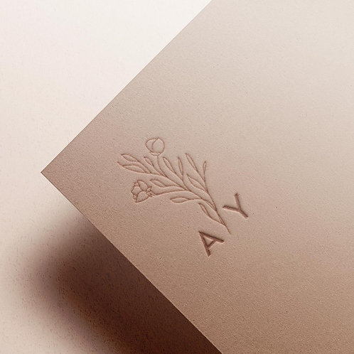 Custom Monogram | Floral