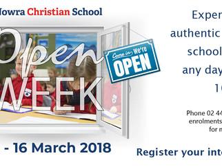 Open Week 12-16 March 2018