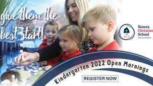 Kindergarten 2022 Open Mornings