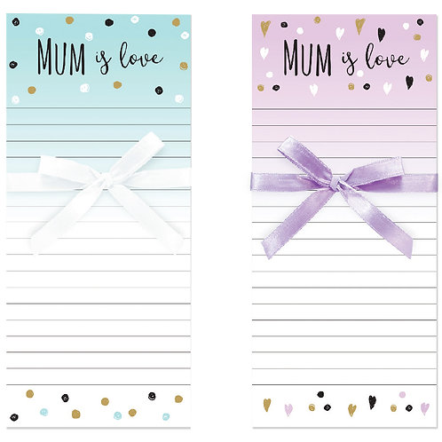 Mum is Love Shopping List/Note Pad