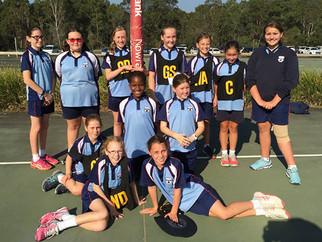 Primary Girls' Netball Teamwork