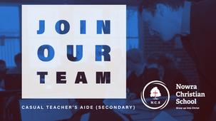 Casual Teacher's Aide (Secondary)