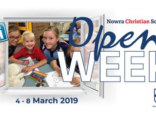 Open Week 4 - 8 March 2019