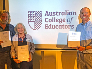 Our teachers recognised at ACE Awards