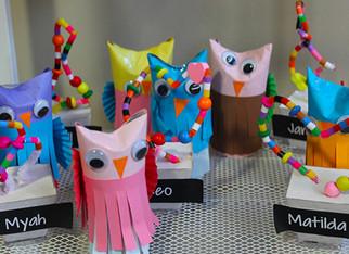 Kindergarten displays their creativity
