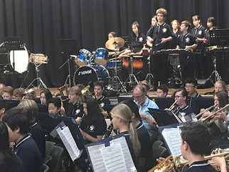 NCS Students perform with ACT Combined Band