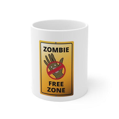 Zombie Free Zone - BannasLab Mug 11oz