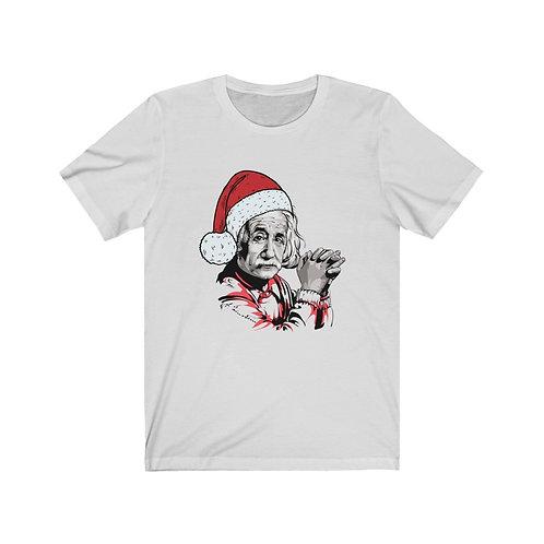 Albert Einstein Christmas - Unisex Jersey Short Sleeve Tee