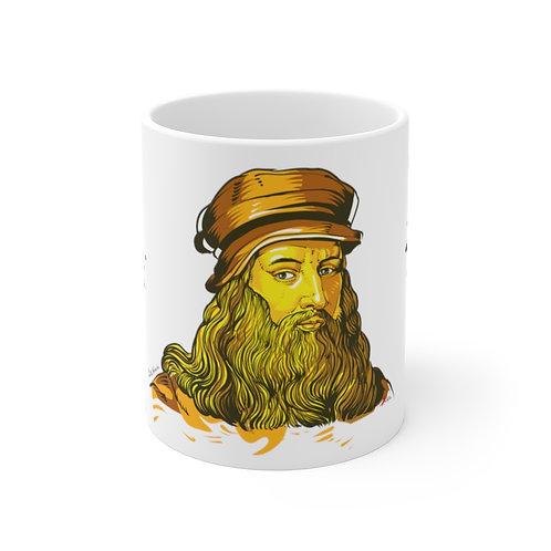 Leonardo DaVinci - Mug 11oz (Not Changing Color)
