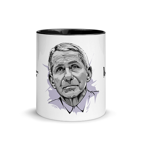 Dr. Anthony Fauci - Kuotables Mug with Black Color Inside