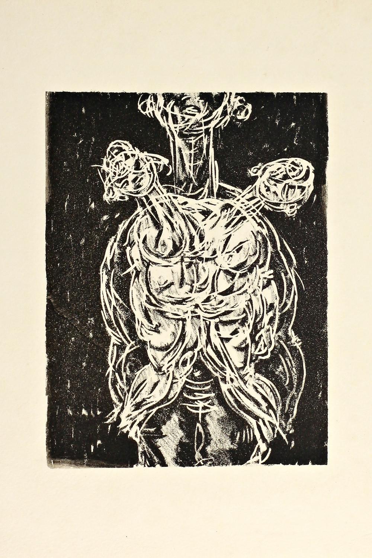 Técnica: litografía, Año: 2002, Medidas: 25x30 cm Autor: Giovanni Gil, Pais: El Salvador