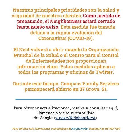 Nest+Closure+[Corona+Virus]+spanish_Page