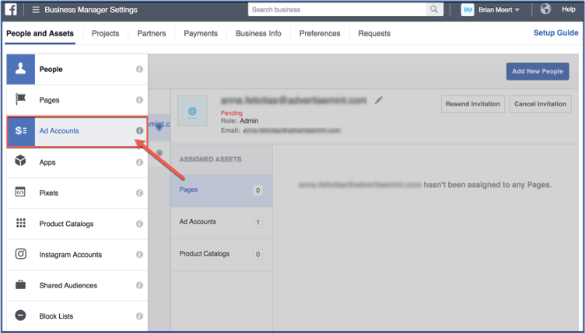 Facebook ads - Business Manager setting