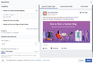 facebook ads - how to boost posts