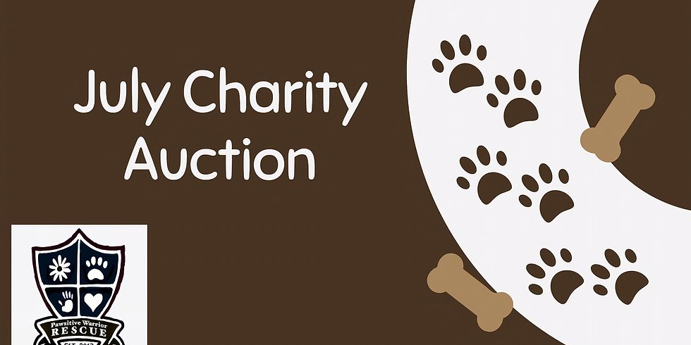 July Charity Auction for Paw-sitive Warriors Rescue