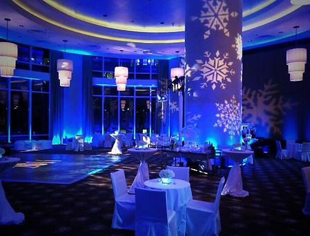 Uplighting and Projector Corporate Christmas Party.jpg