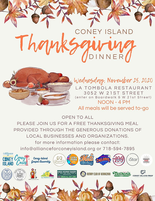 CONEY ISLAND THANKSGIVING DAY DINNER (13
