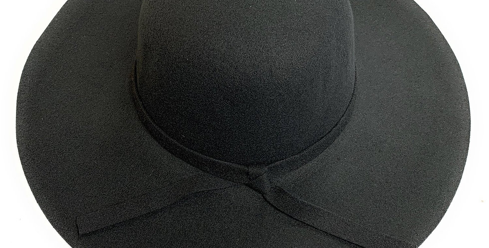 Mechaly Women's Eva Black Fedora Vegan Hat
