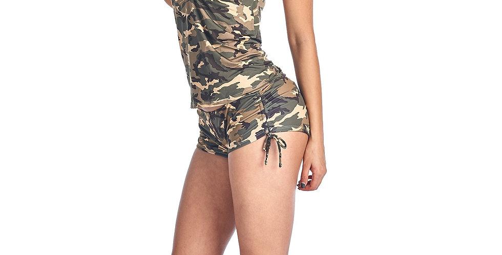 Women's Camo Bikini Tankini & Shorts 2-Piece Swimwear: