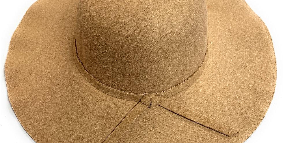 Mechaly Women's Eva Beige Fedora Vegan Hat
