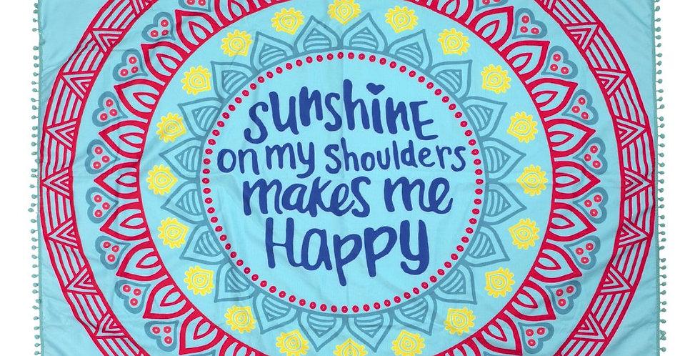 "Hdf2758-7 - ""Sunshine on My Shoulders"" Square Beach Towel"